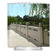Chinese Garden Bridge Shower Curtain