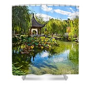Chinese Garden Lake Shower Curtain