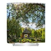 Chinese Garden Sun Shower Curtain