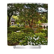 Chinese Garden View Shower Curtain