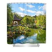 Chinese Garden Vista Shower Curtain