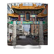Chinese Gate To The Chinatown  Shower Curtain
