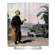 Chinese Gentleman, From A Picturesque Shower Curtain