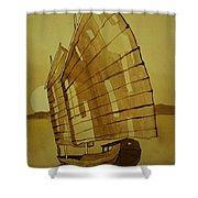 Chinese Junk Boat Shower Curtain