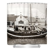Chinese Junk Ship Shower Curtain