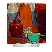 Chinese Kitchen Cookware Shower Curtain