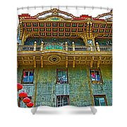 Chinese Lanterns In Chinatown In San Francisco-california  Shower Curtain