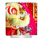 Chinese Lion Head Shower Curtain