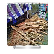 Chinese Market 3 Shower Curtain