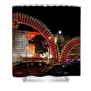 Chinese New Year 2012 Dragon Sculpture Decoration Panorama Shower Curtain