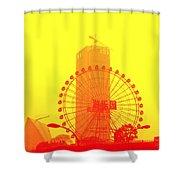 Chinese Wonder Wheel Shower Curtain
