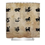 Chinese Zodiac Shower Curtain by Delphimages Photo Creations