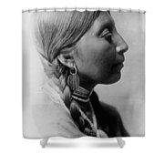 Chinookan Indian Woman Circa 1910 Shower Curtain