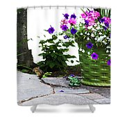 Chipmunk And Flowers Shower Curtain