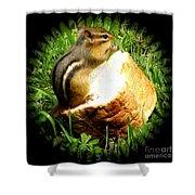 Chipmunk Saying Grace Shower Curtain