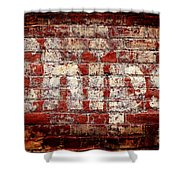Chips Brick Wall Shower Curtain