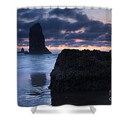 Chiseled By The Sea Shower Curtain