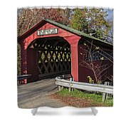 Chiselville Covered Bridge Shower Curtain by Edward Fielding