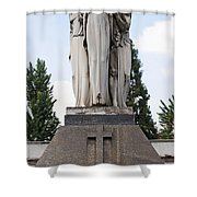 Chisletti Bonelli Memorial Front View Monumental Cemetery Milan Shower Curtain