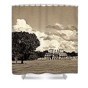 Chitzen Itza Panorama Sepia Shower Curtain