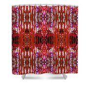 Chive Abstract Red Shower Curtain