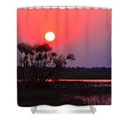 Chobe River Sunset Shower Curtain