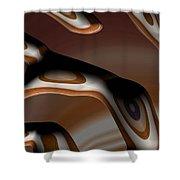 Chocolate Bark Shower Curtain