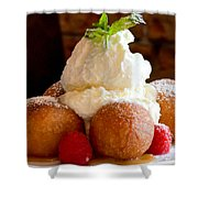 Chocolate Beignet Dessert Shower Curtain