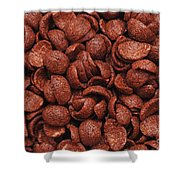 Chocolate Cereals Shower Curtain