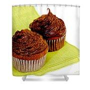 Chocolate Cupcakes Shower Curtain