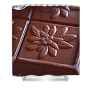 Chocolate Flower  Shower Curtain