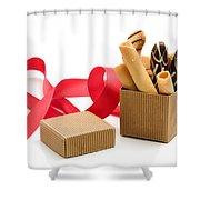 Chocolate Gift Shower Curtain