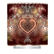 Chocolate Heart Shower Curtain
