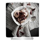 Chocolate Ice Cream Shower Curtain