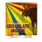 Chocolate Moose Shower Curtain