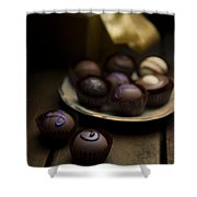 Chocolate Pralines Shower Curtain