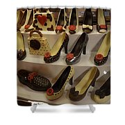 Chocolate Shoes In Milan Shower Curtain