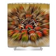 Chocolate Strawberry Rush Shower Curtain