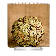 Chocolate Truffles Rolled In Thyme Shower Curtain