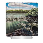 Chokoloskee Snook Shower Curtain