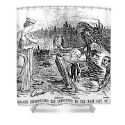 Cholera Cartoon, 1858 Shower Curtain