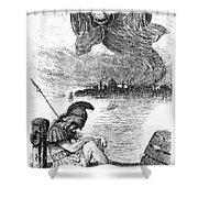 Cholera Cartoon, 1883 Shower Curtain by Granger