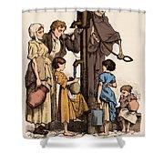 Cholera-infected Pump, 1854 Shower Curtain