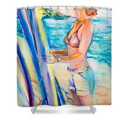 Choose Well Wahine Shower Curtain