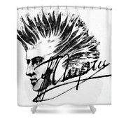 Chopin 2 Shower Curtain
