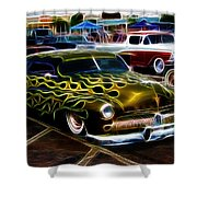 Chopped And Flamed Shower Curtain