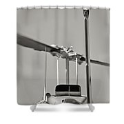 Chopper Back Shower Curtain by Patrick M Lynch