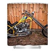 Chopper Custom Built Harley Shower Curtain