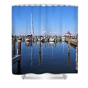Choptank River Marina Shower Curtain