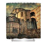 Chora Church Shower Curtain by Taylan Apukovska
